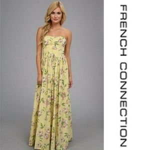 French Connection Strapless Floral Maxi Dress